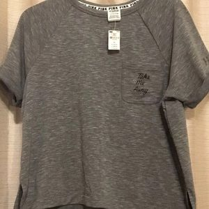 NWT Victoria's Secret Pink Grey Soft Shirt S
